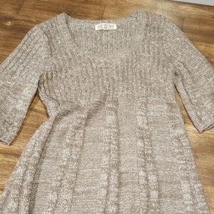 Pink Rose Sweater Knit Dress
